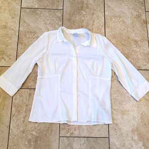 3/$15 white button up blouse